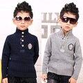 YN-813, gola crianças meninos blusas grossas, manta de algodão blusas de patch