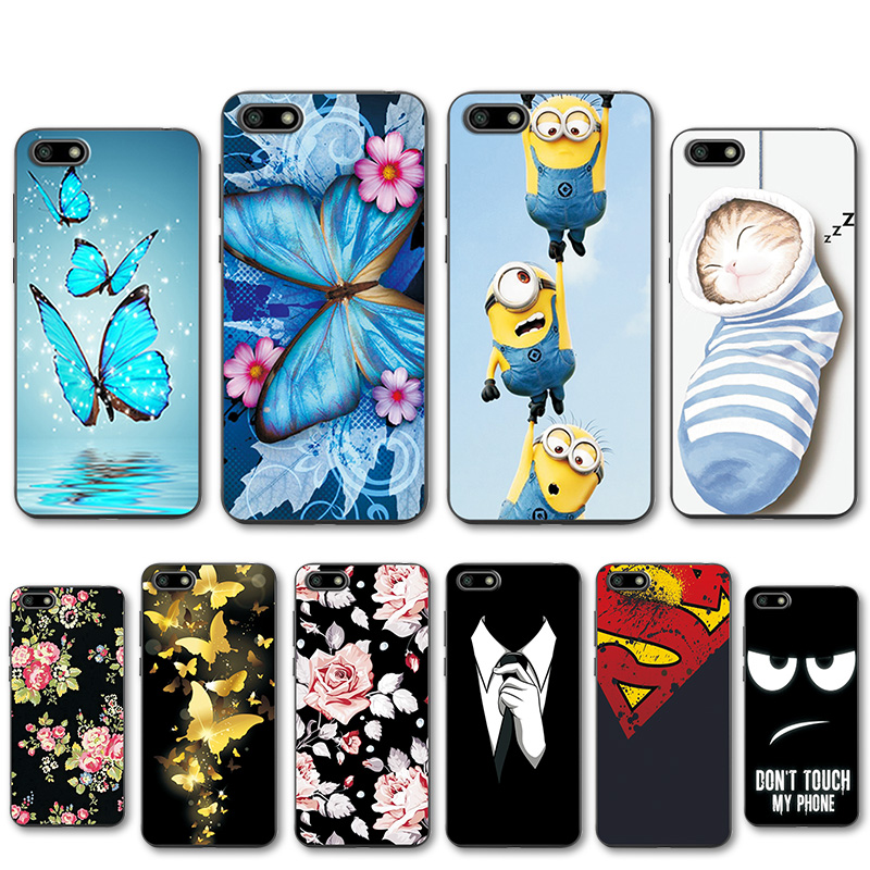 Honor 7A 5.45'' Various Phone Case For Huawei Honor 7A Soft Silicone TPU Patterned Fundas For Huawei Honor 7A DUA-L22 Cover(China)
