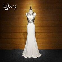 2017 Sirena de La Envoltura Con Cuentas Vestidos de Noche Largo vestido de noiva mujeres Vestido Maxi Vestidos de Espalda Abierta de Noche Formal de la Alfombra Roja vestido