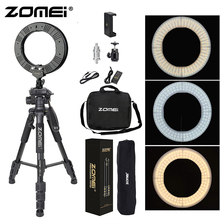 Zomei 14 Outer / 12 Inner LED Ring Light 36W 5500K Lighting Kit + Q111 Tripod Ball Head Phone Holder for Youtube Video