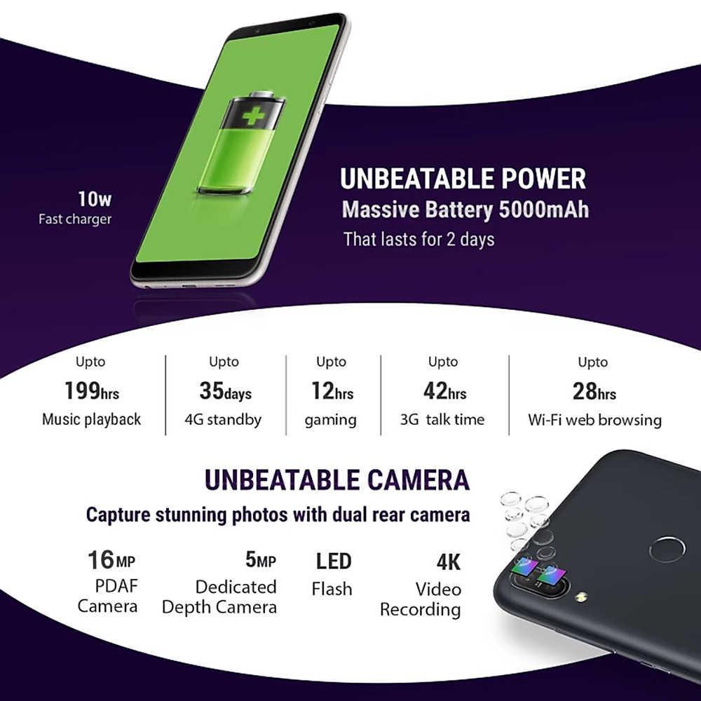 Versão global asus zenfone max pro m1 zb602kl x00td 4g lte telefone móvel 4 gb + 64 gb 6 polegada snapdragon 636 3 slots smartphone