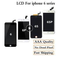 AAA +++ Para iPhone 6 6Plus 6S Plus 7 LCD Assembléia Completa Completa 100% Com Força 3D Toque substituição da tela de Exibição de Pixel Não Morto