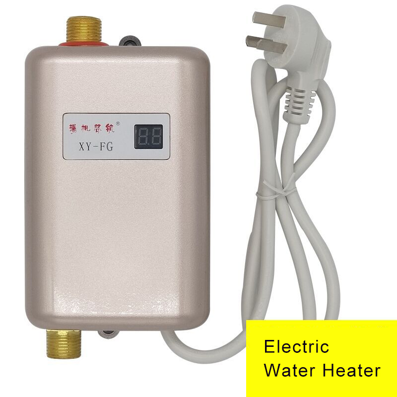 Electric Water Heater 110v Instantaneous Water Heater Kitchen Faucet Heating Thermostat Household Heater Tap Water Heater 220v