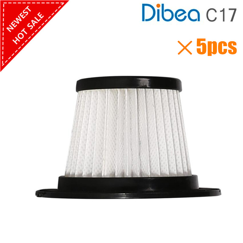 5pcs/lot For Dibea C17 Vacuum Cleaner Spare Parts Kits HEPA Filter
