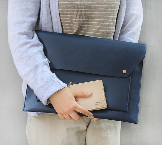 Fashion PU Leather A4 Document Bag Business Manager Filing Bag Padfolio Briefcase Organizer For Ipad Portfolio Office Supplies