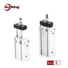 CUK6*/CDUK20* 5/10/15/20/25/30/35smc rod free mounting cylinder without rotation Cuk6-5 (without magnetic) CDUK6-5 with magnetic