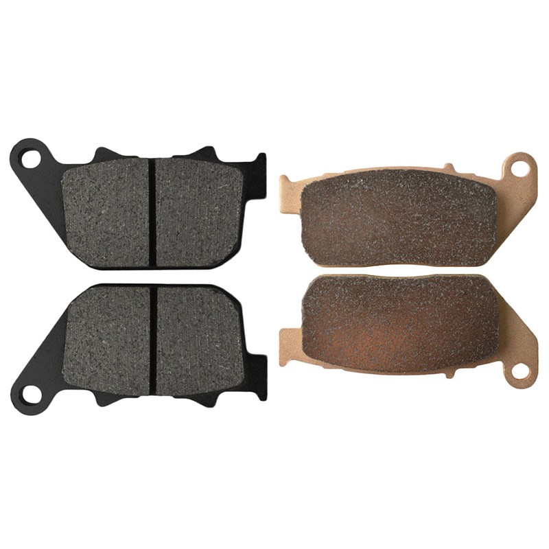 Motorcycle Front and Rear Brake Pads for HARLEY DAVIDSON XL 1200 C XL1200C Sportster Custom 2004-2014 Brake Disc Pad motorcycle front and rear brake pads for harley davidson xl 1200 r xl1200r sportster roadster 2004 2008 black brake disc pad