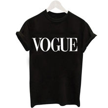 2018 Fashion Style Summer Tshirt Harajuku Tumblr VOGUE Letter printed t shirt women Tops Blusa(China)