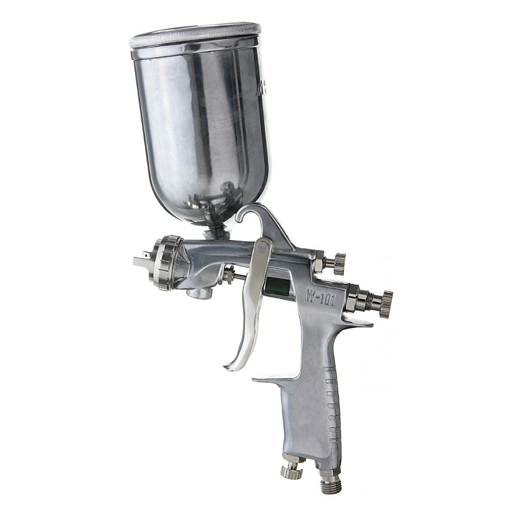 New 400ml HVLP Paint Spray Gun For Paint & Decorating Power Tools, 1.3MM  Stainless Steel Nozzle High Quality The Lowest Price paint spray gun 1 5mm nozzle gravity 400ml cup stainless steel high pressure painting gun
