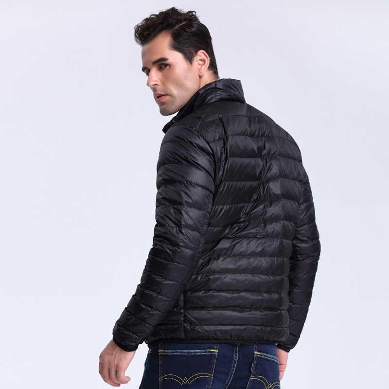 Мужской легкий пуховик VOMINT, осенне-зимняя теплая тонкая куртка на пуху, M-5XL, 2019