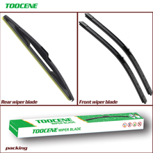 Front And Rear Wiper Blades for Peugeot 207 (Hatchback) 2007-2012 Windshield windscreen Wiper Auto Car Styling 26+17+14D