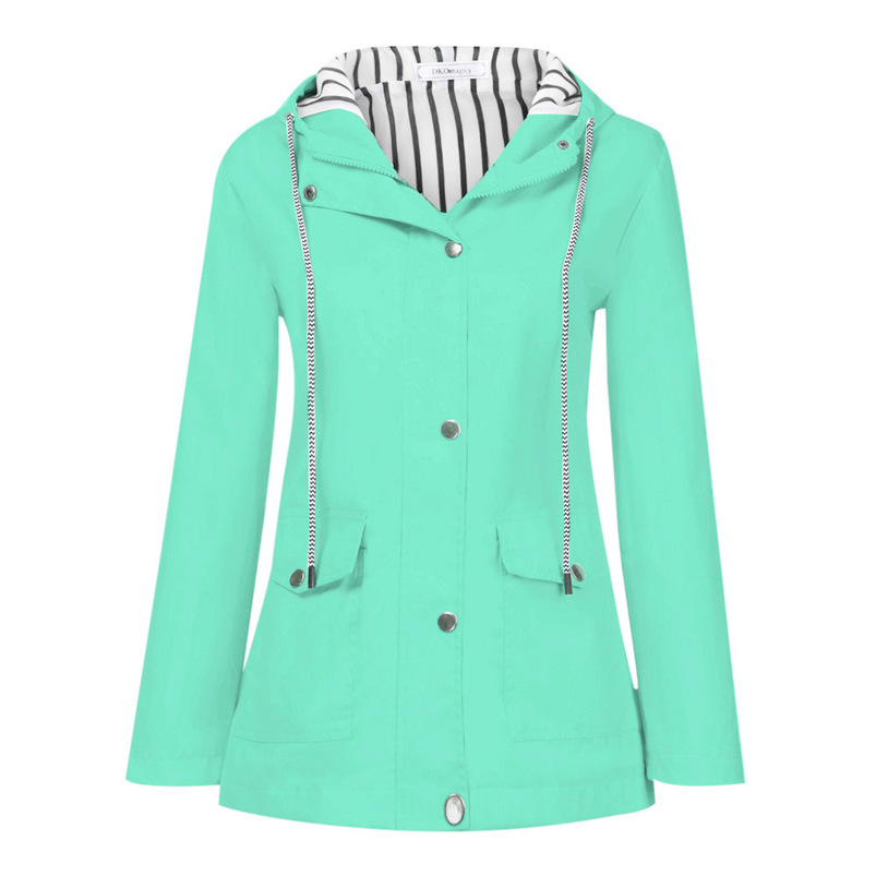 Rain Coat Women Plus Size Coat 2018 Long Sleeve Waterproof Jacket Hooded Raincoat Jacket Women Clothes Warm Coat Girl #O11 (31)