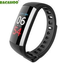 RACAHOO Sono Monitor de Pressão Arterial Inteligente Pulseira Cor LCD Heart Rate Pedômetro Aptidão Smartband Bluetooth Para IOS Android