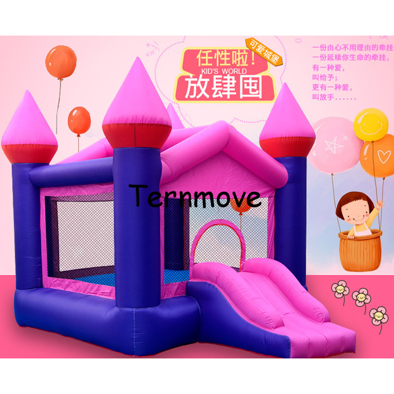 inflatable bounce castle with Blower Indoor Outdoor Moonwalk Inflatable Bouncy house Made of Nylon Jump 'n Slide Bouncer spiderman backyard kids mini nylon bounce house inflatable bouncer bouncy castle jumping castle with slide and blower for home u