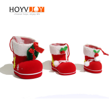 Christmas Decoration Santa Claus Gift Boots Candy Gift Bag Chocolate Box Christmas Tree Pendant Home Decoration HOYVJOY цена