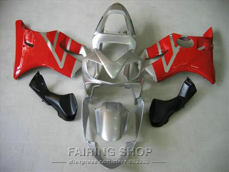 Silver red Fairings for Honda CBR 600F4i 2003 2002 2001 cbr 600 f4i 01 02 03 Injection mold Fairing kit +7gifts ll117 hot sales for honda cbr600f4i 2001 2002 2003 cbr600 f4i 01 03 cbr 600 f4i white dark blue motorcycle fairing injection molding