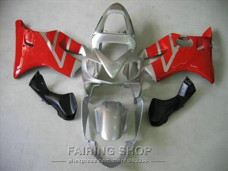 Silver red Fairings for Honda CBR 600F4i 2003 2002 2001 cbr 600 f4i 01 02 03 Injection mold Fairing kit +7gifts ll117 injection molded fairing kit for honda cbr 600 f4i fairings 2001 2002 2003 blue movistar bodywork set cbr600 01 02 03 td25