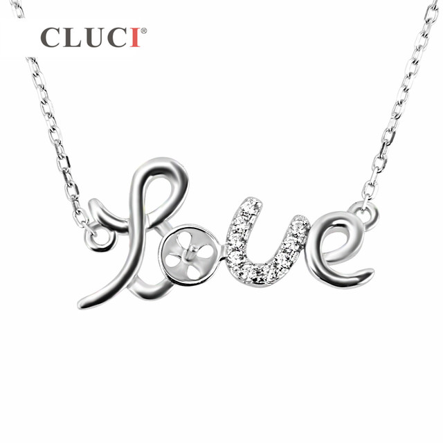 Cluci 925 sterling silver gorgeous love pendant drop charm necklace cluci 925 sterling silver gorgeous love pendant drop charm necklace chain for womenwife aloadofball Choice Image