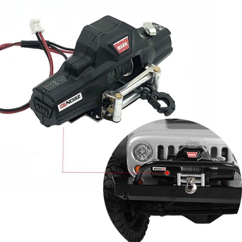 RC En Métal Automatique Double moteur Simulé Treuil Pour 1/10 RC Crawler Voiture Axial SCX10 TRAXXAS TRX4 RC4WD D90 D110 TF2 tamiya CC01