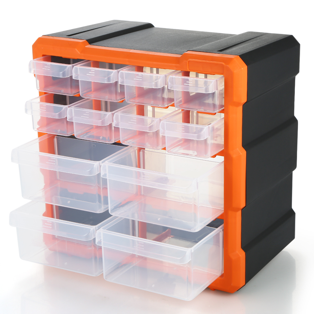 Drawer Plastic Part Storage Box Hardware Box Tool Organizer Craft Cabinet Tools Component Container Accessories Storage Tool Box