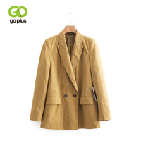 GOPLUS Casual Striped Ladies Blazers Long Sleeve Women Causal Outwear Female Blazer Jackets OL Outfits Blazer Feminino Tops
