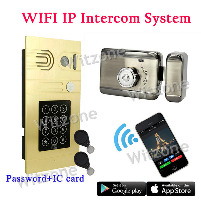 Password Access/IC Card Access/IOS Android APP Remote Control WIFI Wireless Video Intercom System,DHL Free Shipping