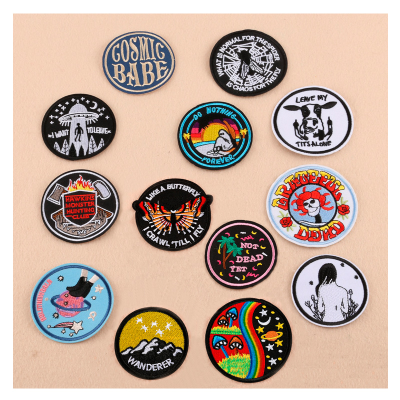 2018 New Cool Iron Patches Nope Heart Parches Star Stripe Embroidered Applique for Jacket Clothes Stickers Badge DIY Apparel Одежда