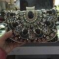 NEW black gemstone women vintage evening bags luxury women bag shoulder bags diamonds clutch bag wedding purse free shipping