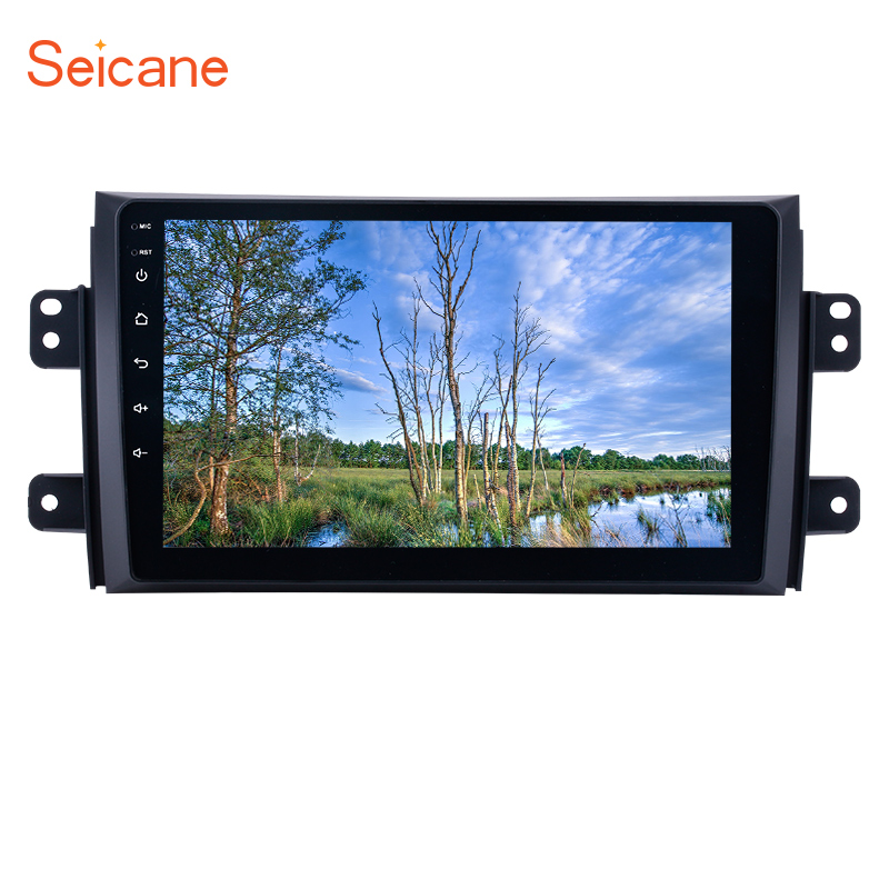 Seicane 9 inch Android 7.1/8.1 HD 1024*600 Car  GPS Audio Radio Unit Player for 2006-2012 Suzuki SX4 with Quad Core ROM 16GB