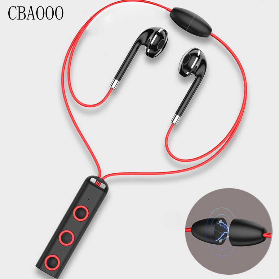 Sports Bluetooth Earphone Magnet Wireless Headset With Mic Bass Earphones Earbuds HiFi in ear Earpiece For mobile Phone Xiaomi