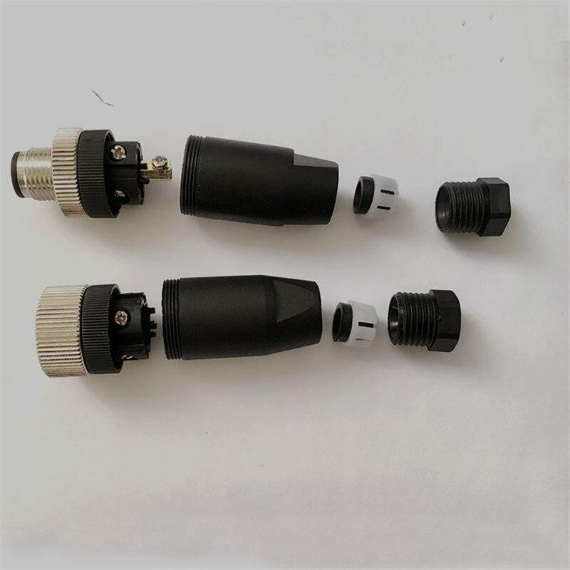 Купить с кэшбэком 1PCS SS025 M12 waterproof aviation plug female/male 4PIN sensor encoder connector straight/bent screw fixation non-welding