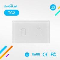 Broadlink TC2 US AU Standard Smart Home RF Touch Light Switches 2Gang 110V 220V Remote Control