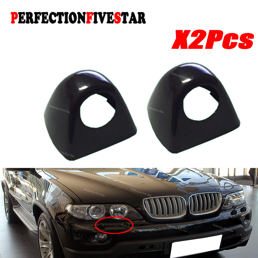 61677145236 For BMW X5 E53 2003 2004 2005 2006 Front Right Side Headlight Head Light Lamp Washer Cover Cap Unpainted pair car front headlamp clear lens headlight plastic shell clear cover for bmw e90 e91 2004 2005 2006 2007