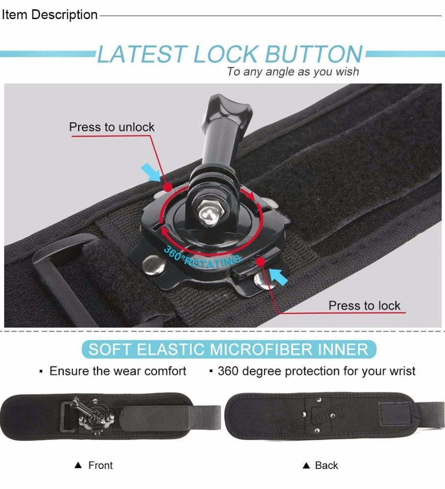 Image 5 - Accessories For Gopro 7 Set 50 1 Kits Selfie Stick Strap Mount Head Chest For GoPro Hero7 Black 6 5 Case Yi 4K Sjcam Large Box-in Sports Camcorder Cases from Consumer Electronics