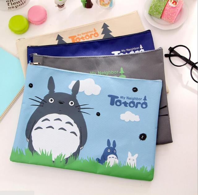 32*23cm Kawaii My Neighbor Totoro Oxford A4 File Folder Document Filing Bag Stationery Bag