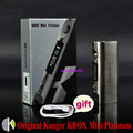 100% Original Kangertech KBOX Mini Caja De Platino Kangert Control de Temperatura TC Cuadro Mod 60 W plata Mod para 18650 Batería