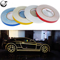 45M*1CM Car Styling Reflective Tape Funny DIY Stickers Warning Safety Auto Motorcycle Bike Decal Body 3M Cover Decoration Strip