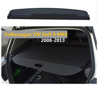 For Volkswagen VW Golf 6 MK6 2008 2013 Rear Trunk Cargo Cover Security Shield Screen shade High Qualit Car Accessories