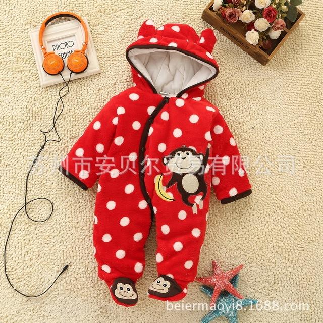 Inverno em ternos do bebê Bebê ah subir roupas macacão flanela espessamento conjunta frete grátis