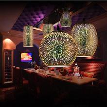 Современные светодиодные красочные покрытием 3D стекло подвесной светильник зеркало стеклянный шар абажур для ресторана кафе-бар столовая лампа