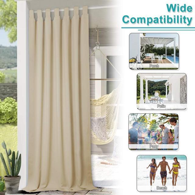 Moderne Outdoor Vorhange Vorhange Wasser Abweisend Blackout