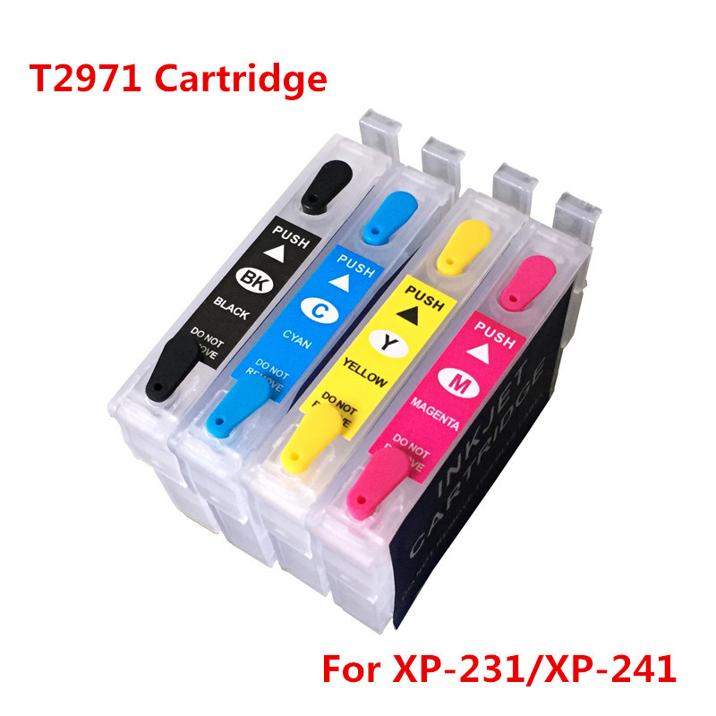 купить T2971 T2962-T2964 Refillable Ink Cartridges For Epson XP231 XP431 XP-231 XP-431 XP-241 Inkjet Printer Cartridge With Chips по цене 1620.35 рублей