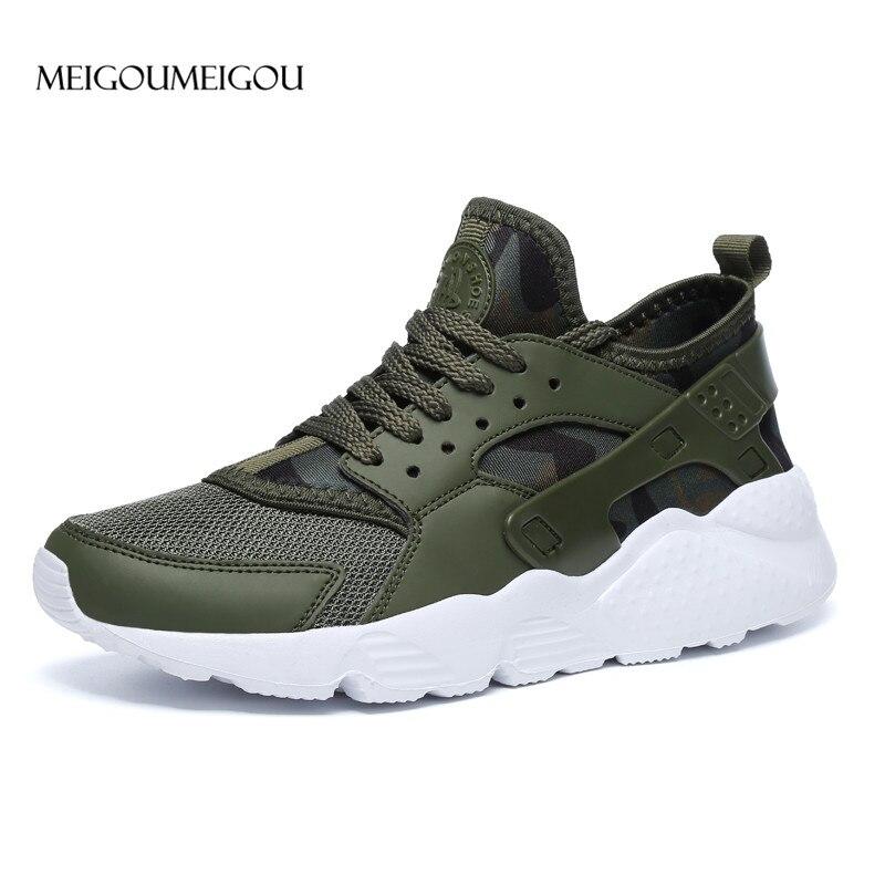 MEIGOUMEIGOU תוספות חמה למכור לגפר נעלי גברים מקרית חיצוני דעיכת סניקרס גברים בתוספת גודל זכר הנעלה לבן לגפר נעלי