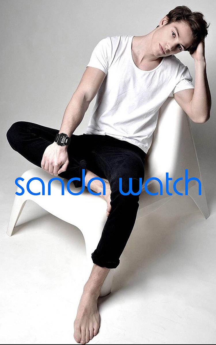 sanda luxury brand led digital watches fashion men\'s sports wristwatches drop shipping (36)