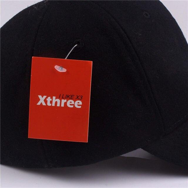 3d2980bb4e6 Xthree solid men s wool baseball cap winter cap warm bone snapback hat  gorras fitted hats for women