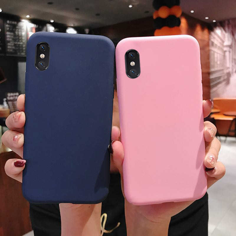 Soft Silicone Case for Samsung Galaxy A30 A20 A10 A50 A70 A2 Core A40S M10 M20 M30 Thicken TPU Matte Back Protection Shell