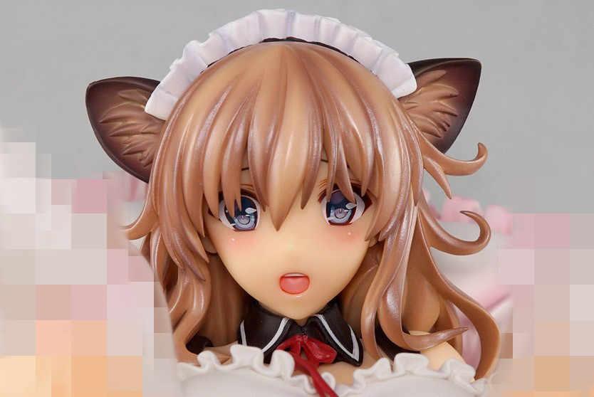 Japão Anime Ilustração Por Misaki Kurehito Cat Ear Empregada peito Macio Ver Presente Coleção Modelo Figura Ação Dos Desenhos Animados brinquedos Boneca