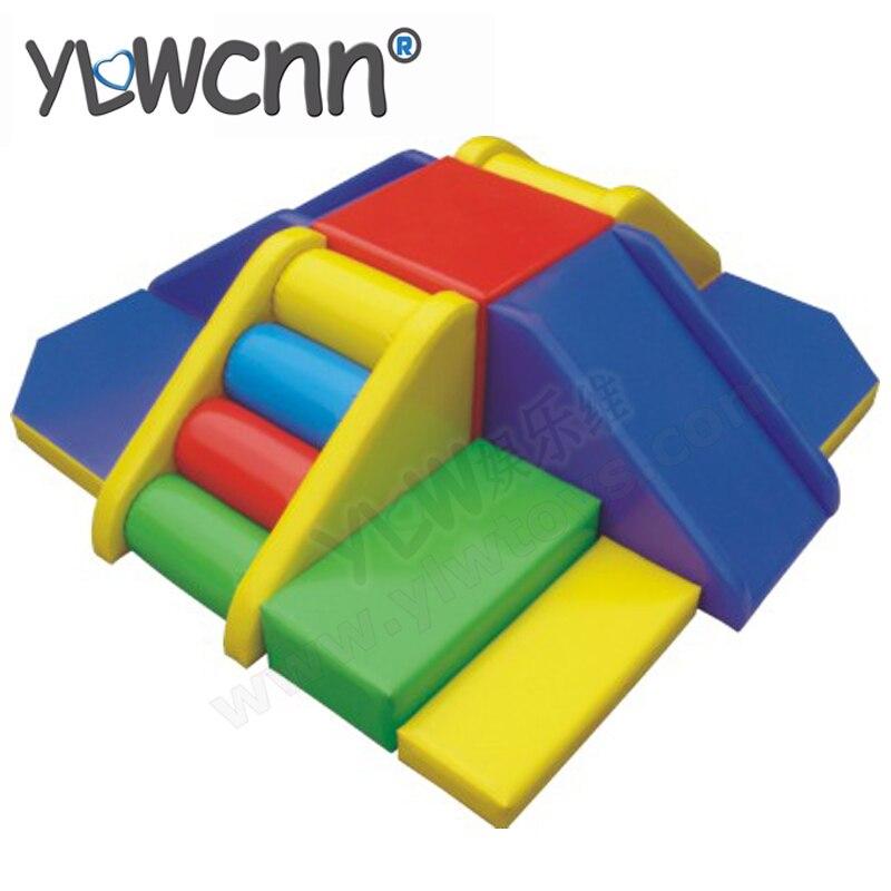 Goede Zachte glijbaan speeltoestellen, kinderen klimmen vermaakmateriaal QS-49