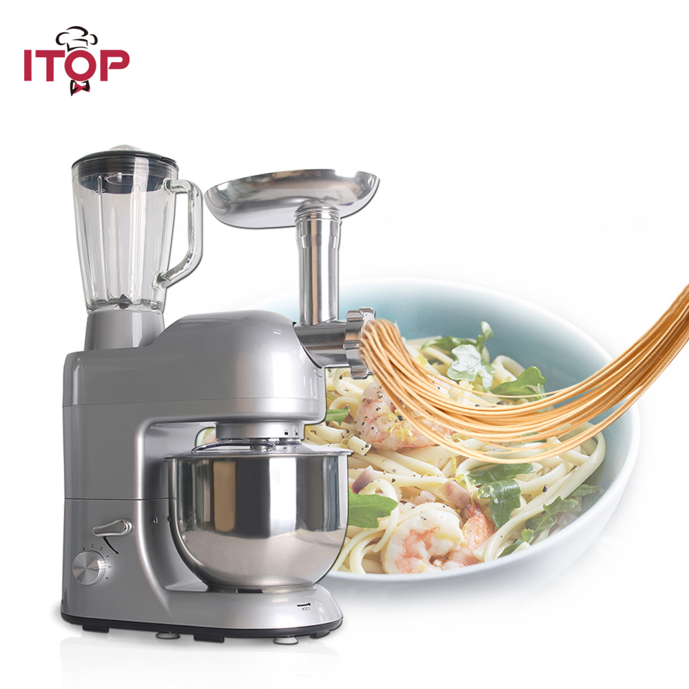ITOP Multifunctional Professional Food Mixers Commercial Blender Juicers Meat Grinder Food Processors 110/220/240V itop stainless steel 5 steaker meat tenderizer steaker with 2 blades rollers commercial meat processors kitchen tools