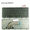 Клавиатура для ноутбука GZEELE US для HP для ProBook 430 G2 440 G0 440 G1 440 G2 445 G1 G2 640 G1 645 с рамкой на английском языке Черная Новинка